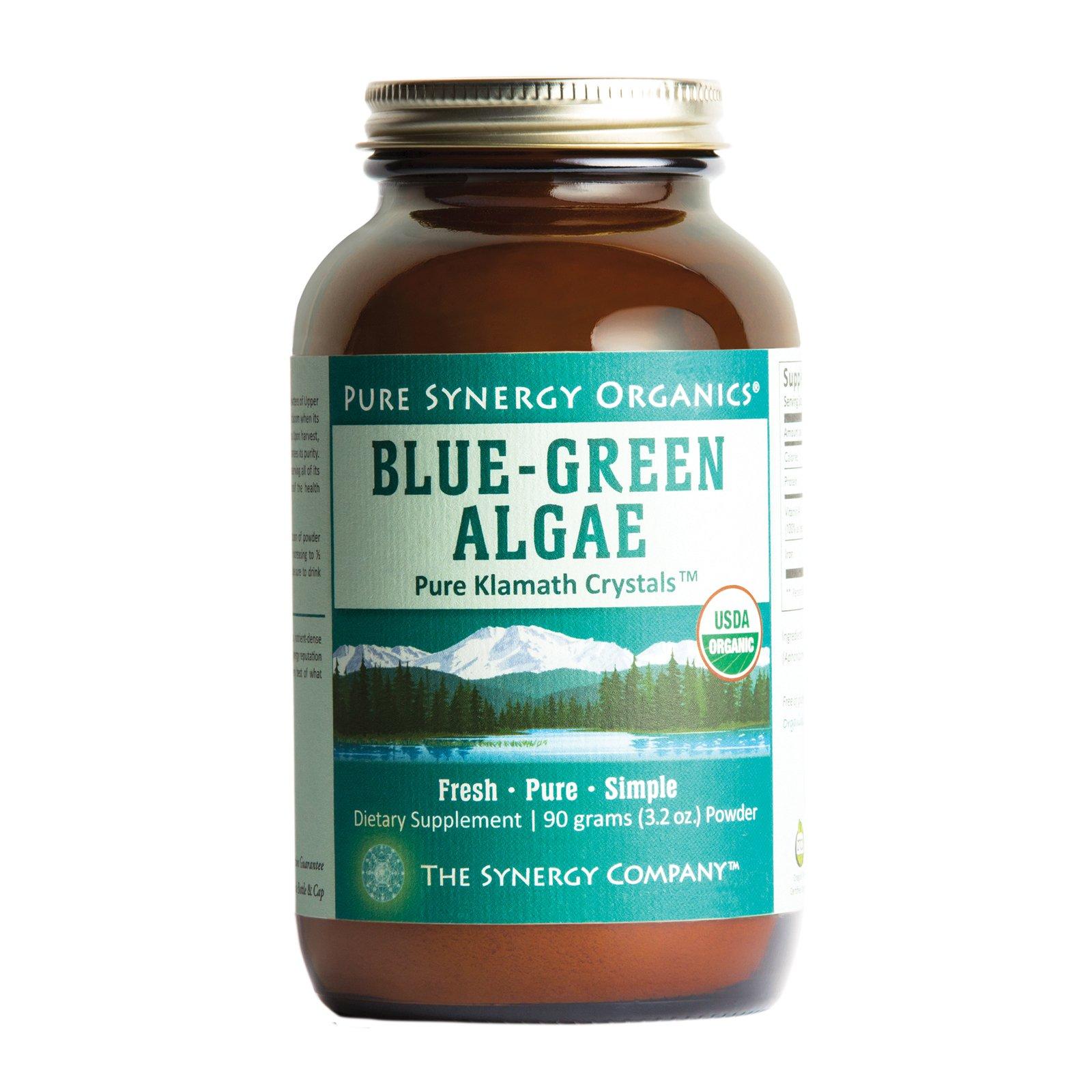 Pure Synergy USDA Organic Klamath Blue Green Algae Powder (3.2 oz) Fully Tested, Non-GMO