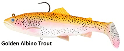 Albino Rainbow Trout | Amazon Com Savage Gear 3d Trout Rattle Shad Golden Albino Rainbow