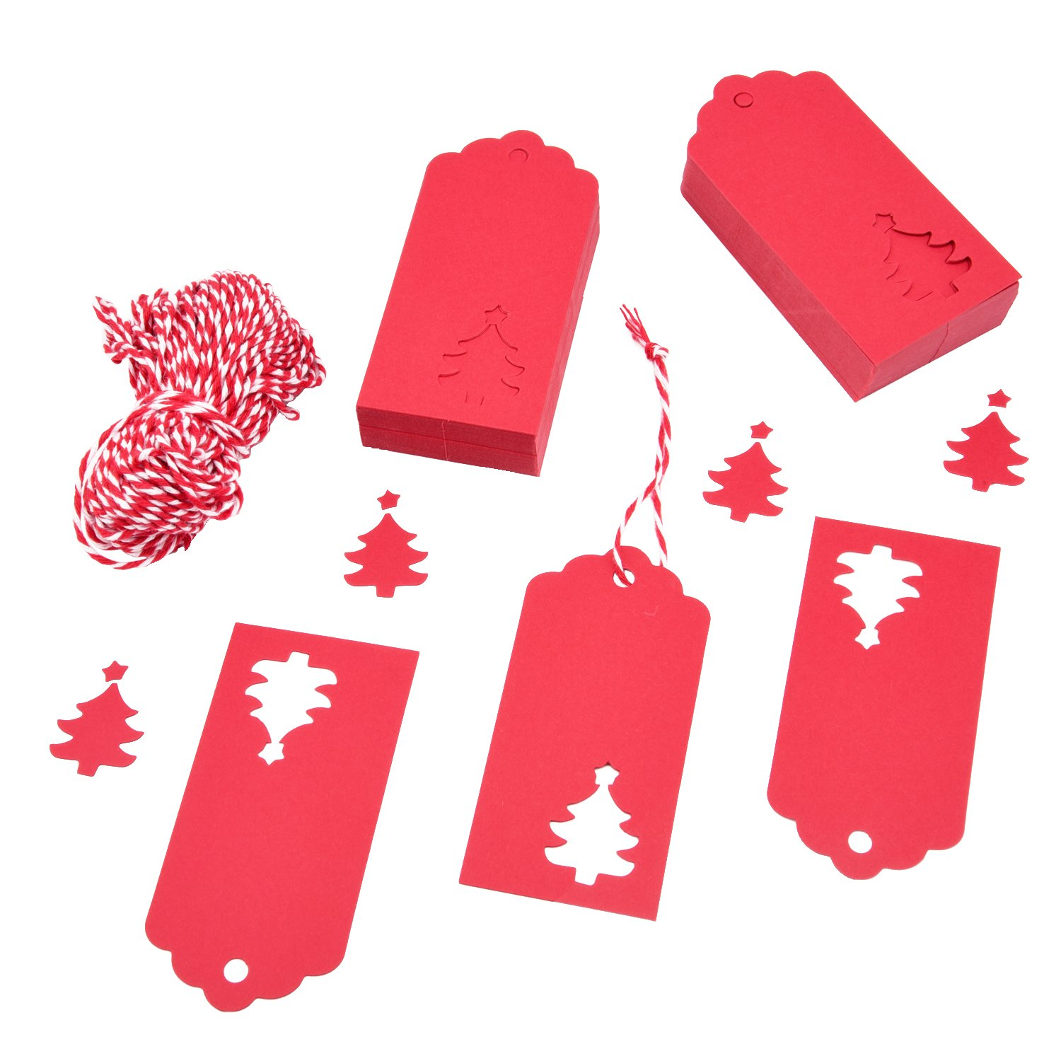 christmas tree design gift tags