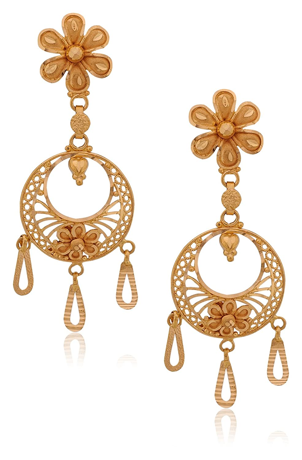 stud yellow image dristi india online jhumka gold big earrings womens shopping jewellery