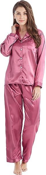 TALLA L. TONY&CANDICE Para Mujer del Pijama De Satén Conjunto
