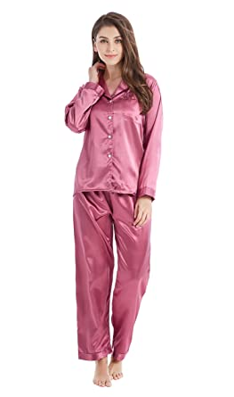 TONY AND CANDICE Women s Sleepwear Classic Satin Pyjama Set ... 90e384c96