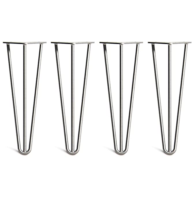Superior Double Weld Steel Construction with Free Screws 10mm Steel Worth /£8 All Sizes /& 13 Colours 12//30cm, 2 Rod, Zinc Build Guide /& Protector Feet HLC 4 x Hairpin Table Legs