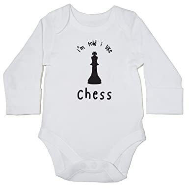 e99c654e3 Hippowarehouse I'm Told I Like Chess Baby Vest Bodysuit (Long Sleeve) Boys  Girls: Amazon.co.uk: Clothing