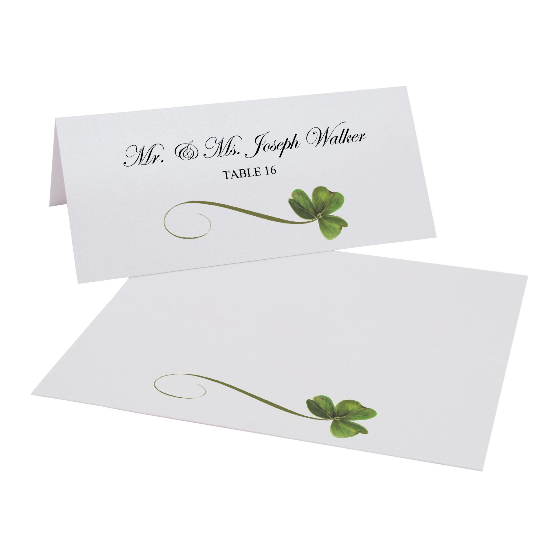 Shamrock Easy Print Place Cards, Pearl White, Set of 400 (100 Sheets) by Documents and Designs