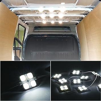 ambother 30 led car interior lights kit led project lens lighting