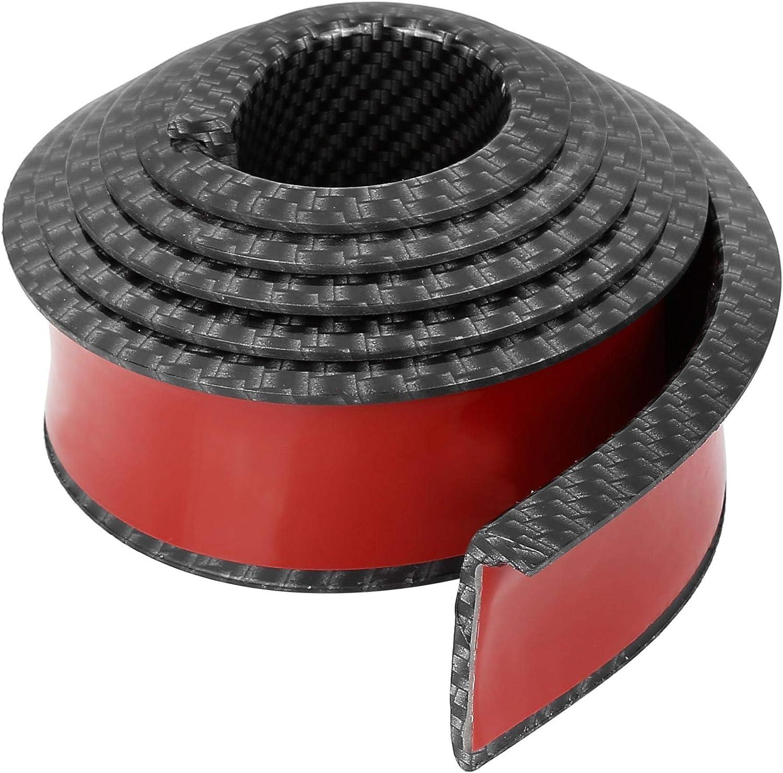 X AUTOHAUX 4.5cm x 1.5m Car Wheel Fender Strip Extension Wheel Eyebrow Moulding Trim Protector Decoration Carbon Fiber Pattern
