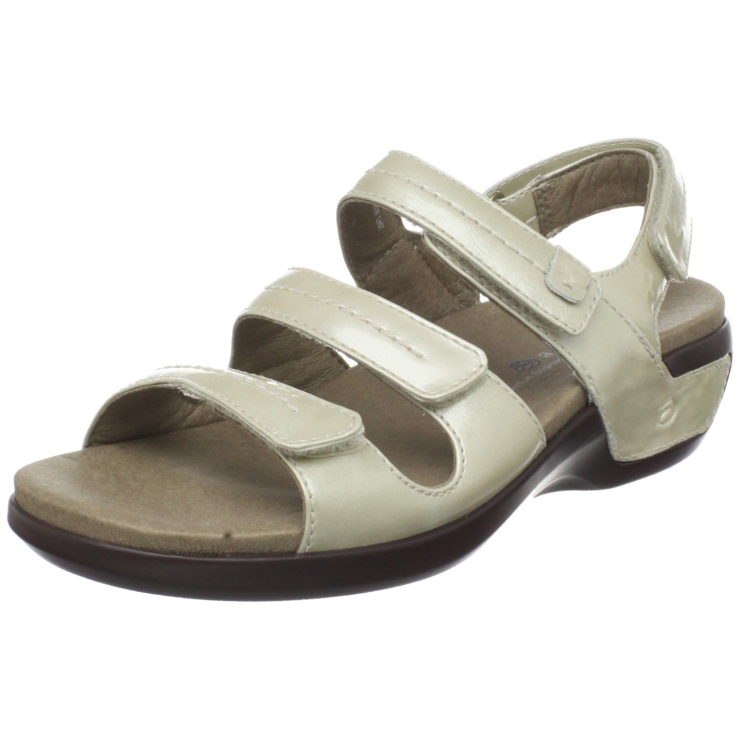 Aravon Women's Keri Wedge Sandal B003WON1G6 10 B(M) US|Beige