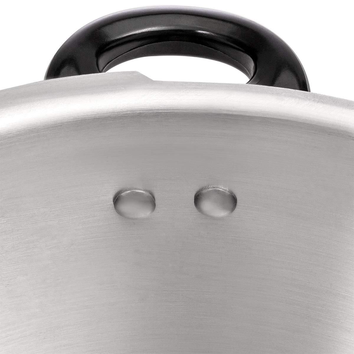 Barton 8-Quart Aluminum Pressure Cooker Stovetop Fast Cooker Pot Pressure Regulator Fast Cooking Steam Release Valve by Barton (Image #5)