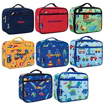 7bb7b1aa5f86 Boy s Personalised Wildkin Lunch Boxes