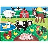 Melissa & Doug - 19050 - Hölzernes Steck-Puzzle - Tiere Auf Dem Bauernhof