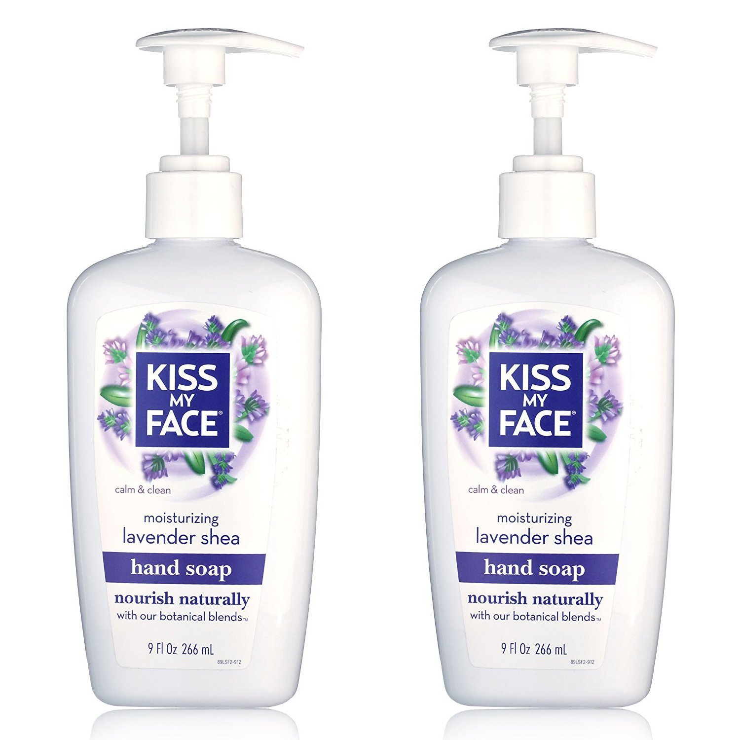 Kiss My Face Lavender Shea Moisturizing Hand Soap, 266ml Pumps (Pack of 2) 28367838081