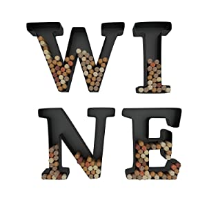 Wine Letter Cork Holder Art Wall Décor ~ Metal ~ All 4 Letters W I N E ~ Gifts for Wine Lovers ~ by HouseVines