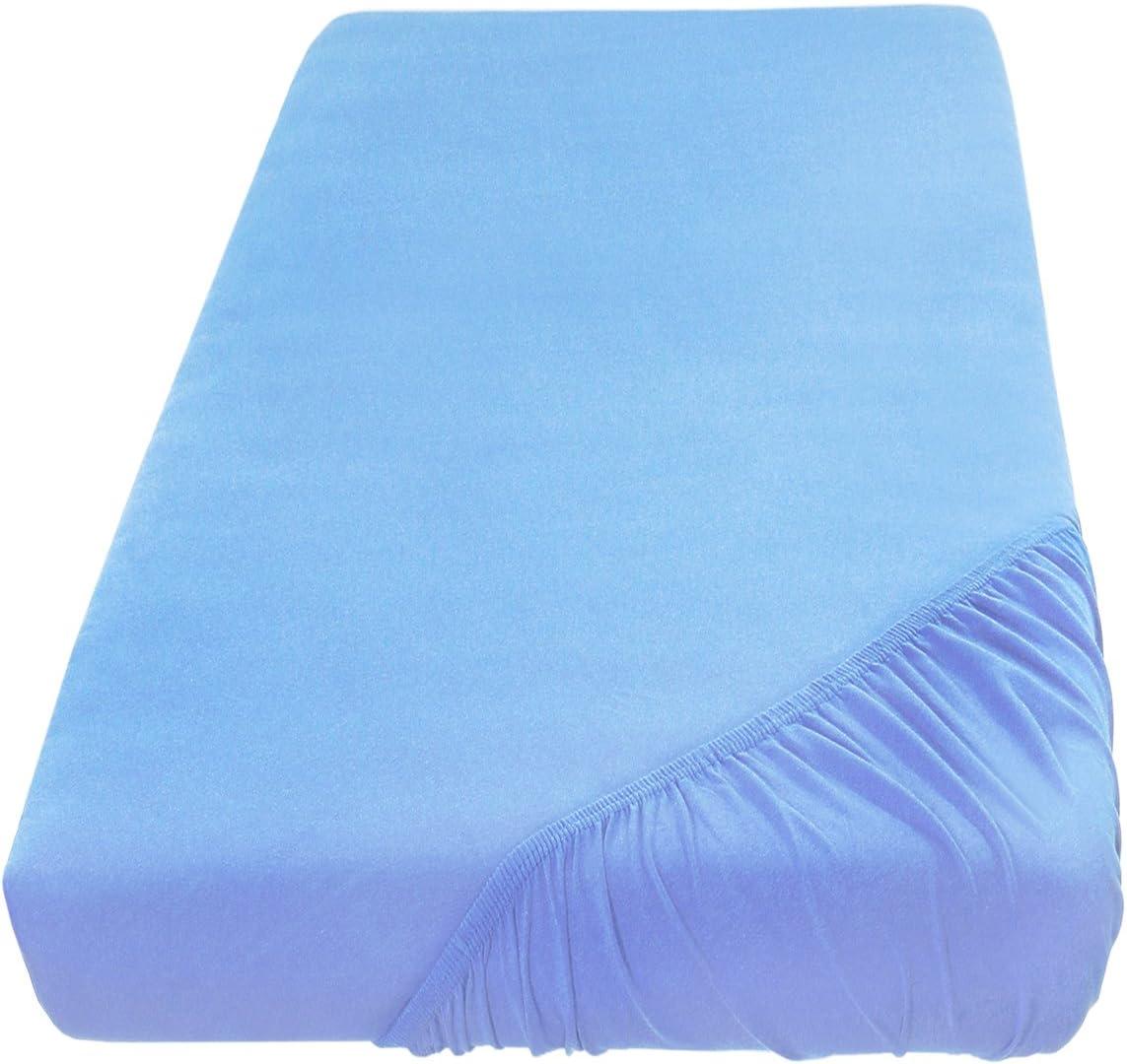 100/% algod/ón Turquesa 70 x 140 cm Todos los tama/ños y Colores SHC Textilien S/ábana Ajustable Jersey Timeless
