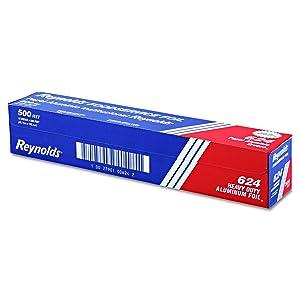 "Reynolds 624 500' Length x 18"" Width, Heavy-Duty Aluminum Foil Roll"