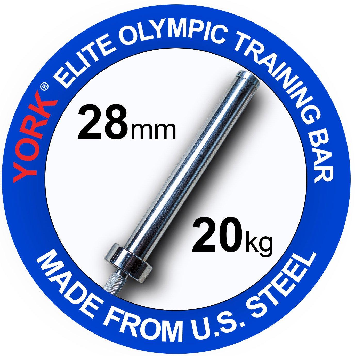 York 2200 mmメンズ20 kg北アメリカ製Competitionトレーニングバー