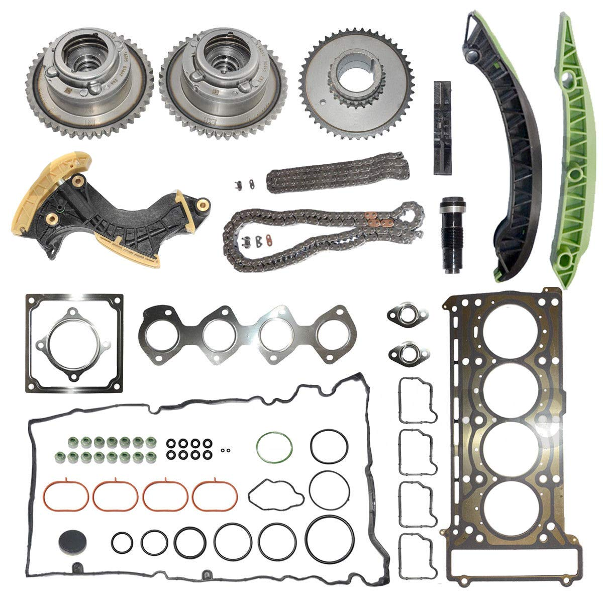 Amazon com: 2710501500 Timing Chain Kit + Gear + Tensioner +