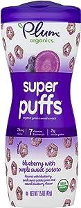 Plum Organics Super Puffs Blueberry With Purple Sweet Potato, 1.5 Oz (Pack Of 4)