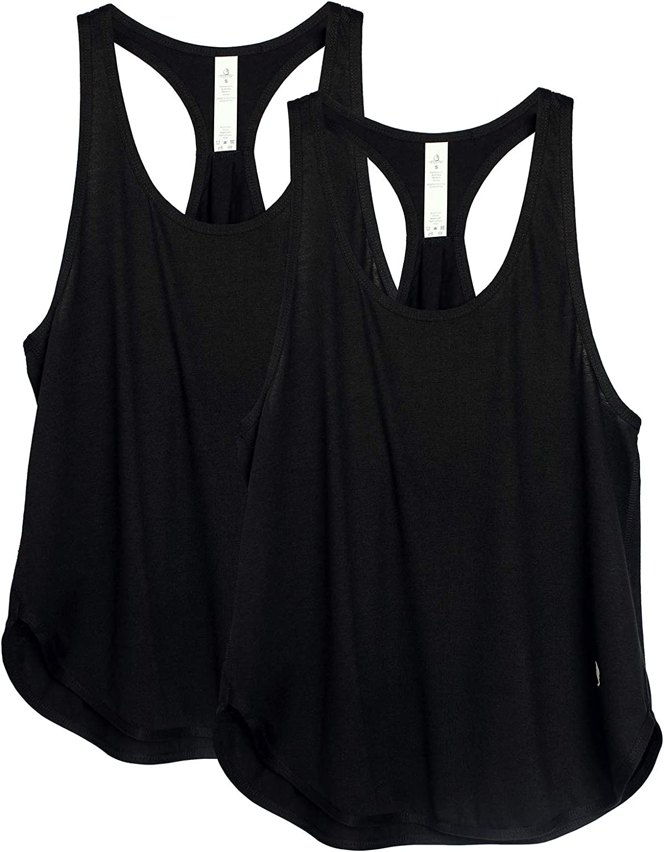 R/ückenfrei Workout Gym Tanktop Yoga Oberteile icyzone Damen Zumba Shirt Sport Top Lang