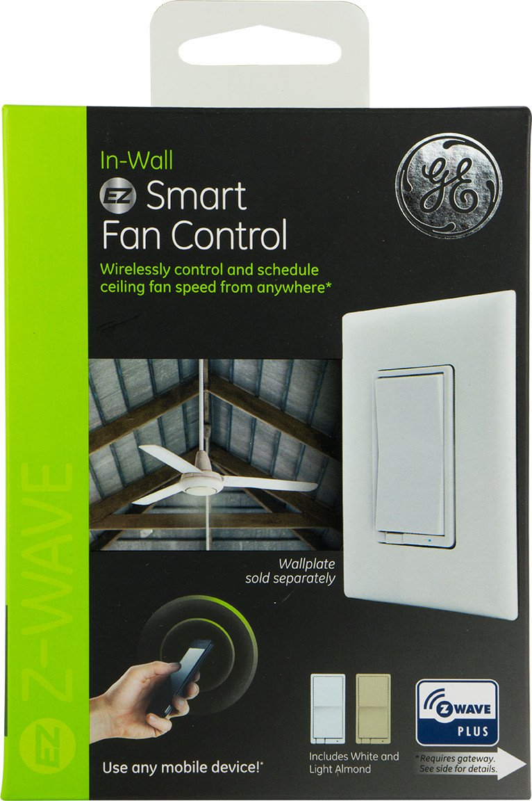 GE Enbrighten Z-Wave Plus Smart Fan Control, Speed ONLY, in-Wall, Includes White & Lt. Almond Paddles, Zwave Hub Required, Works with SmartThings Wink and Alexa, 14287 by GE (Image #8)