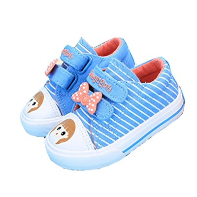 2015 New Blubi Toddler Stripes Top Bowknots Baby Girl Shoes Canvas Sneakers