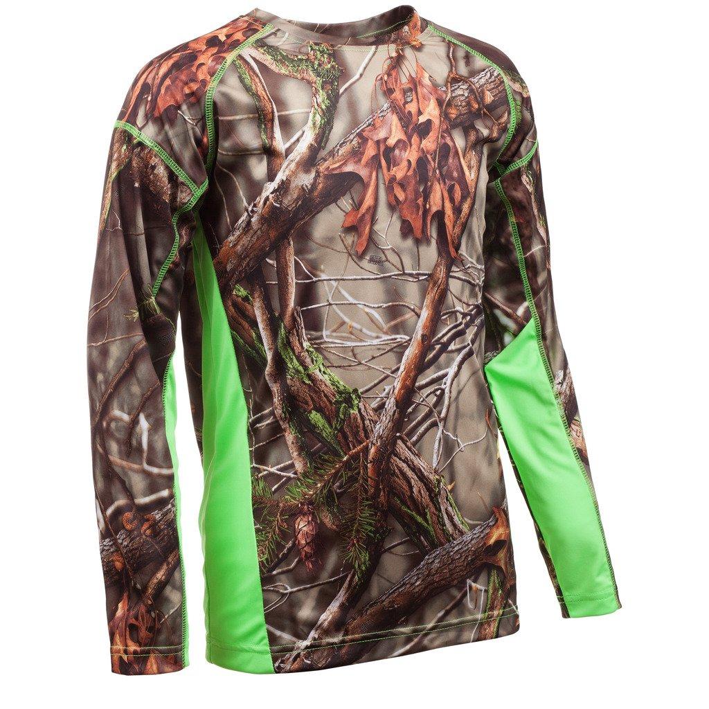 Huntworth Boys Long Sleeve Shirt, Oak Tree EVO,Medium by Huntworth