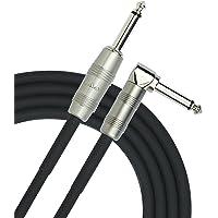 Kirlin Cable IP-202PR-10/BK – 10 pies – ángulo recto a recto 1/4 pulgadas Plug Instrumento Cable Negro PVC