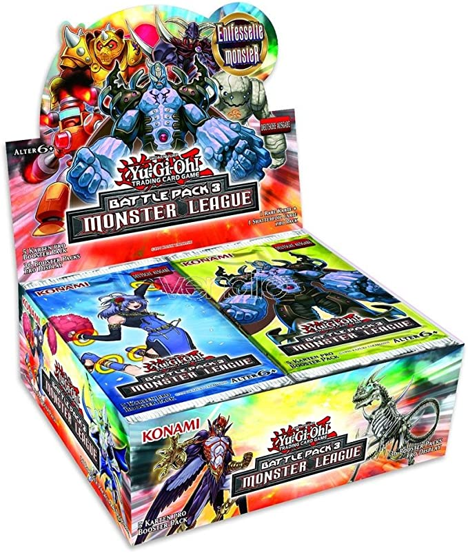 Yu-Gi-Oh! Monster League Battle Pack 3 Display (36 Booster ...