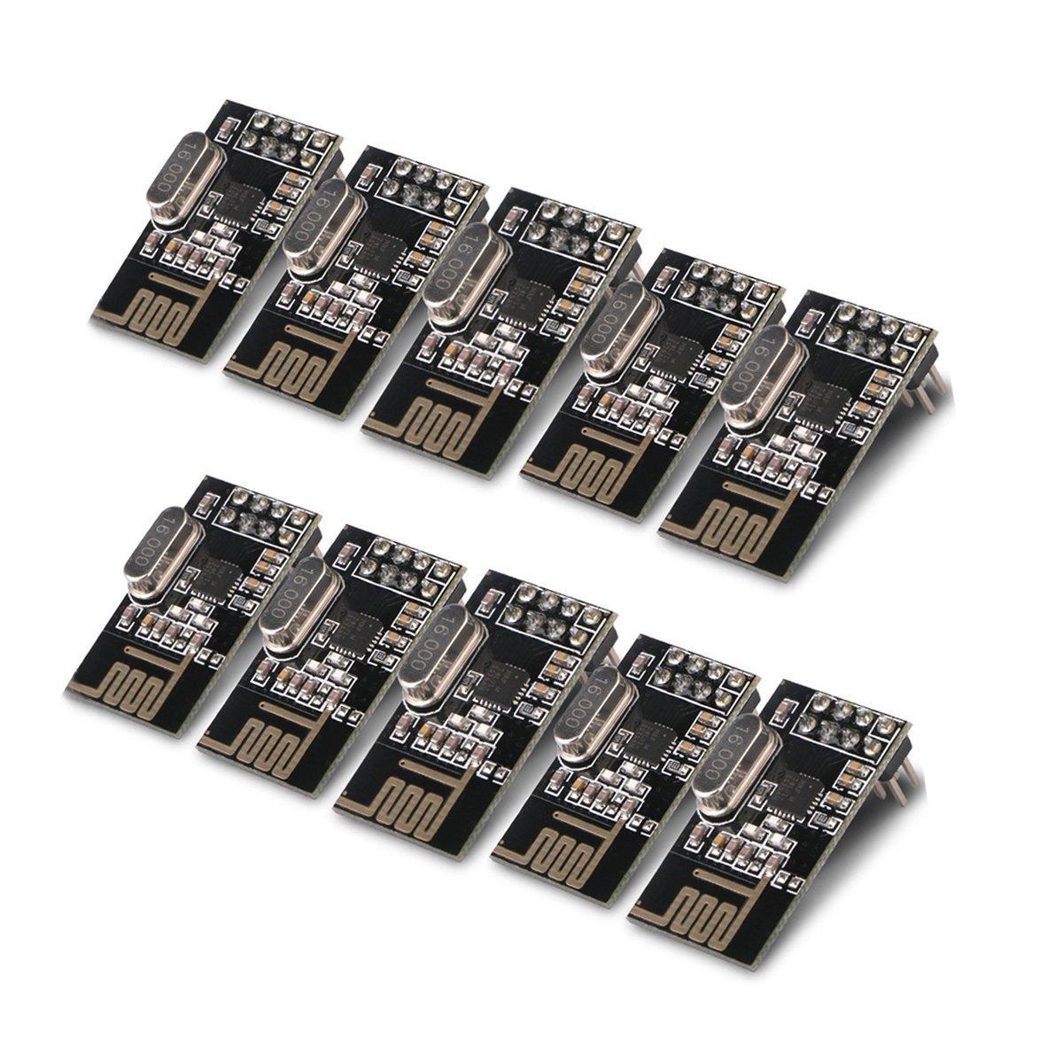 10pcs Arduino NRF24L01+ 2.4GHz Wireless RF Transceiver Module New Md trade
