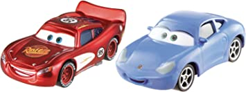 Cars 2 - Pack 2 coches, color rojo y azul (Mattel CDP71) , color ...