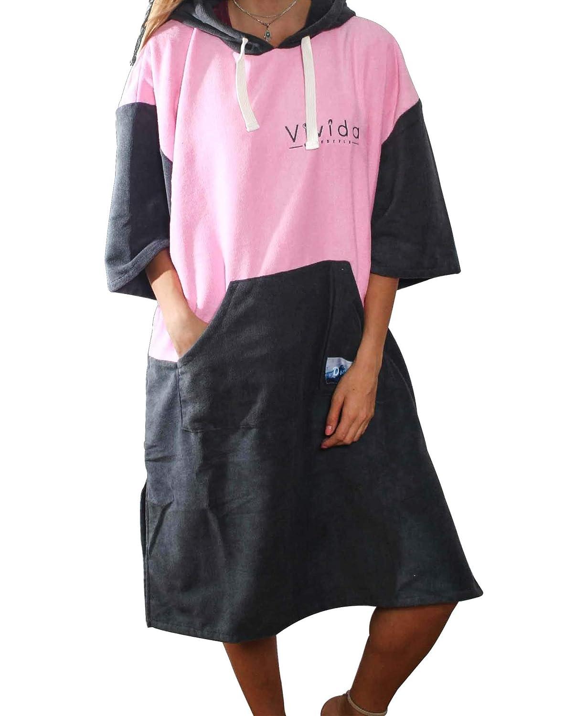 Vivida Lifestyle Hooded Poncho /à Capuche et Robe pour Se Changer sur la Plage Surf et Natation