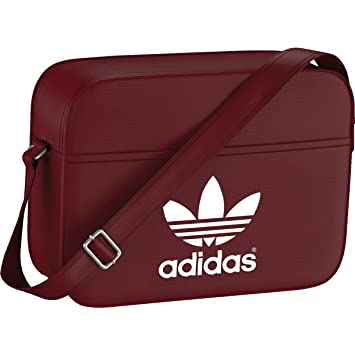 1f038b41c28 adidas Bag Classic Airliner Rust Red F15-St White, 12 x 38 x 28 CM ...