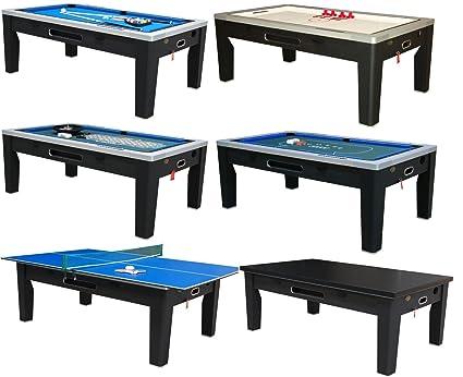 6 In 1 Multi Game Table In Black By Berner Billiards