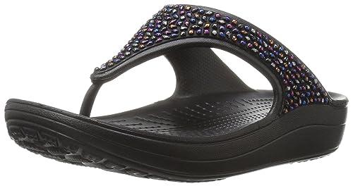 afe9f2c644867f crocs Damen Sloane Embellished Sandalen Flipflops  Crocs  Amazon.de ...