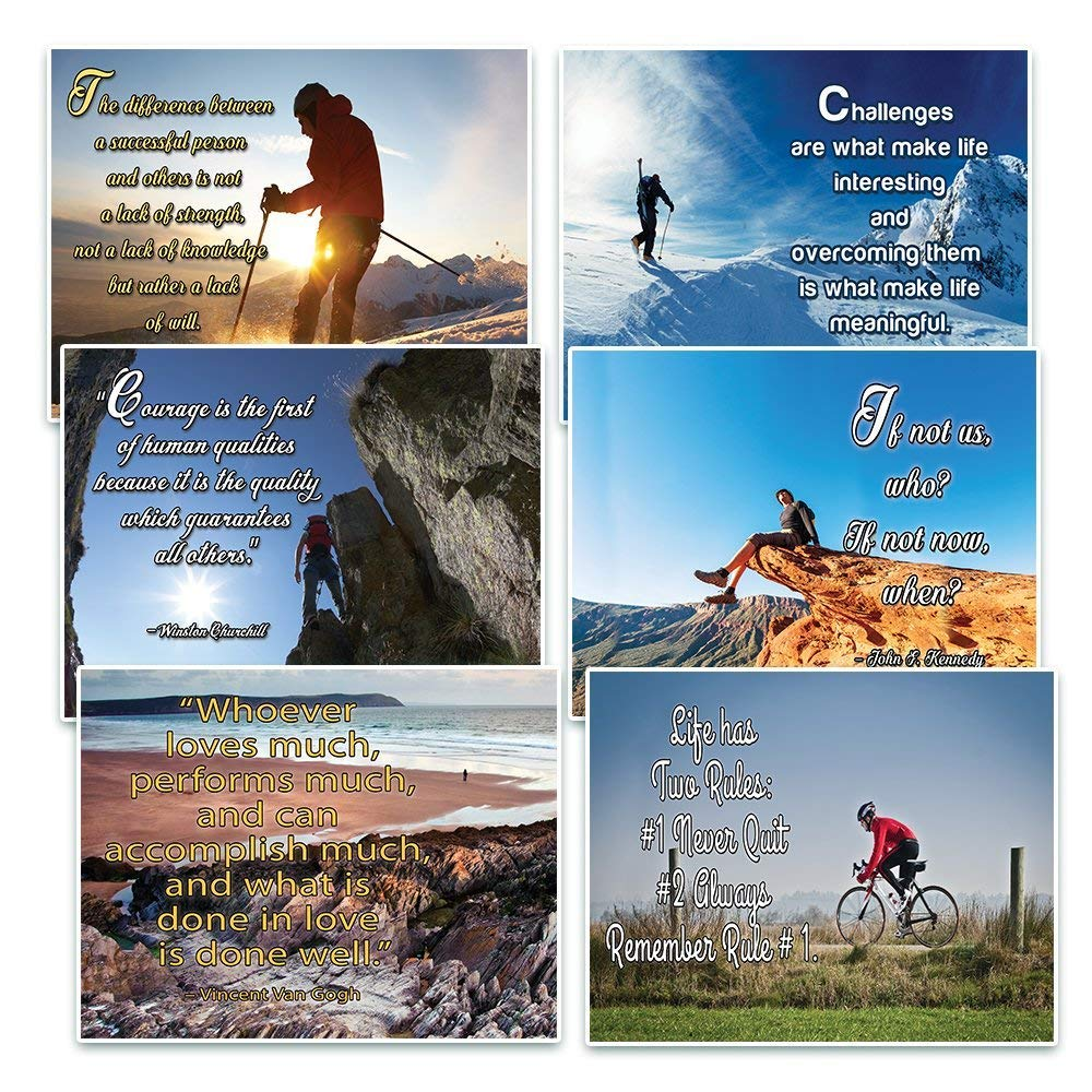NewEights Adventure Inspirational Quotes Postcards Cards Set (30 Pack) - Positive Motivational Encouraging Quotes - Office Wall Decor - Stocking Stuffers for Men Women Business