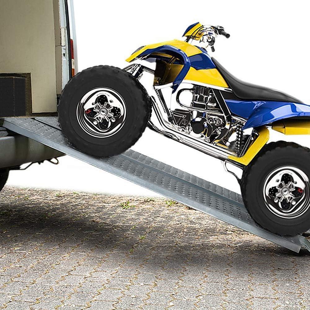 LARS360 2er Auffahrrampe Laderampe Verladerampe Anh/ängerrampe Verzinkter Stahl rutschfeste f/ür Motorrad ATV Quad PKW Auto Belastbar bis 200kg Pro St/ück Auffahrrampe