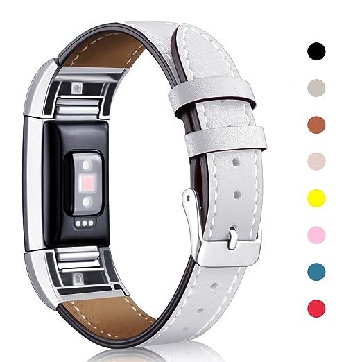 20 opinioni per Mornex Fitbit Charge 2 Cinturino Pelle, Elegante Braccialetto Originate