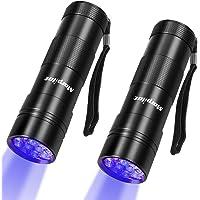 morpilot UV Linterna 2PCS 12 LED 395 nm Linterna Ultravioleta UV Flashlight Mini Detector de Antorcha para Detectar…