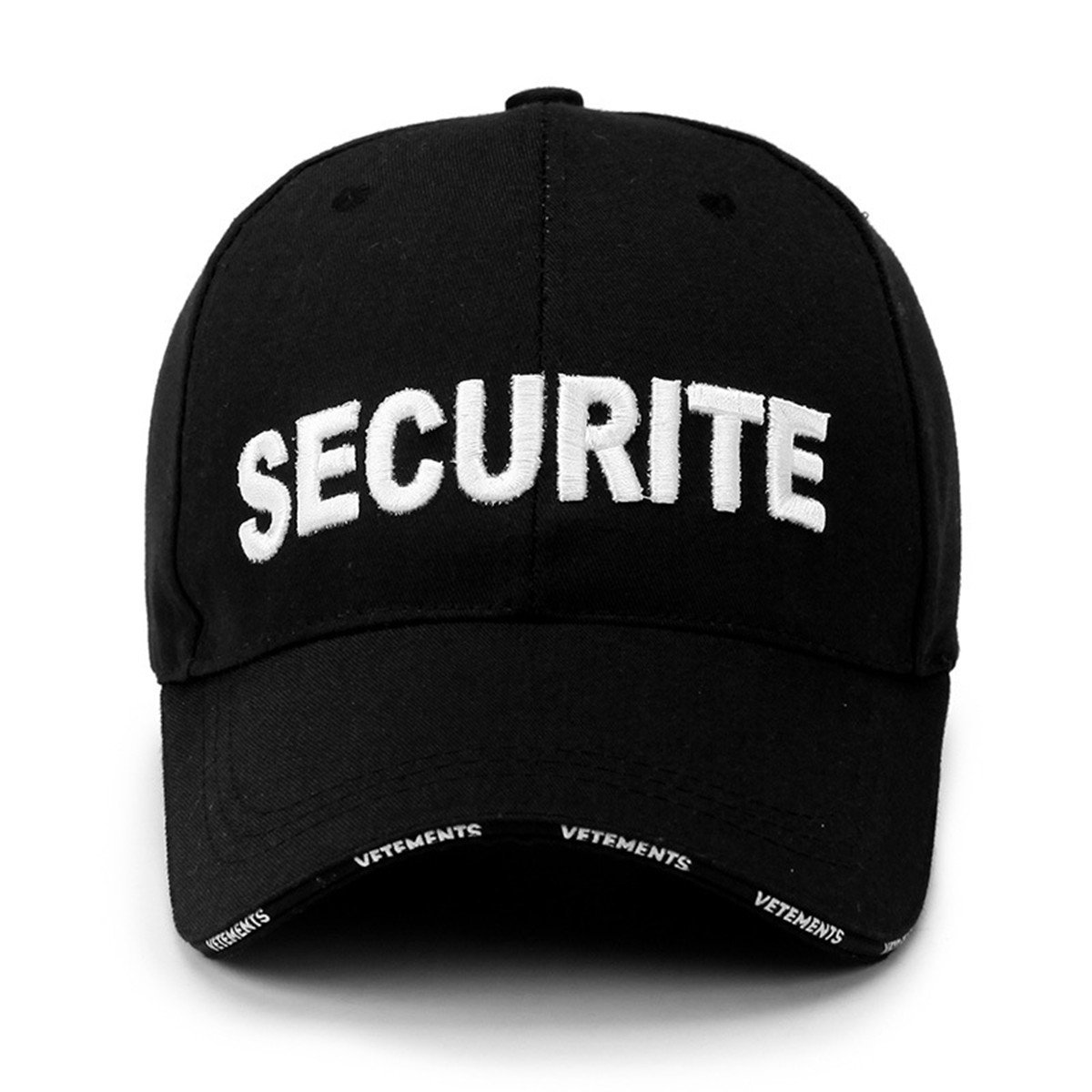 06e6d13f2cd Ezyforu Baseball Cap Adults SECURITE Letter Embroidery Adjustable Cotton  Trucker Hat for Men and Women (Black) at Amazon Women s Clothing store