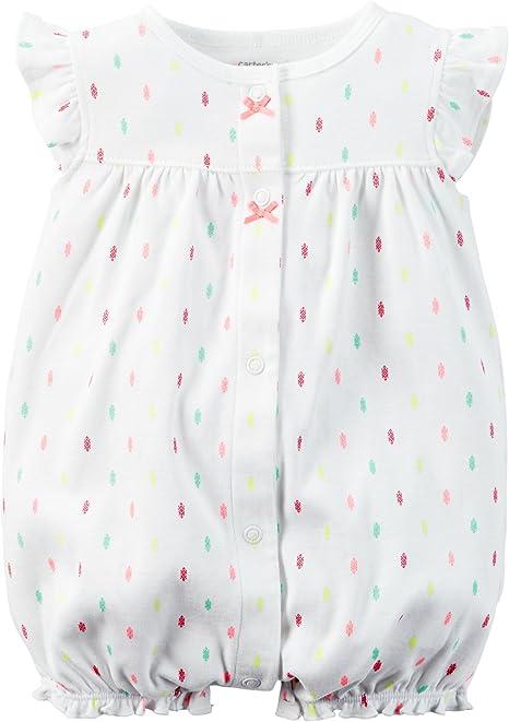 Carters bebé Ropa Disfraz niñas Snap-up Pelele de algodón Blanco ...