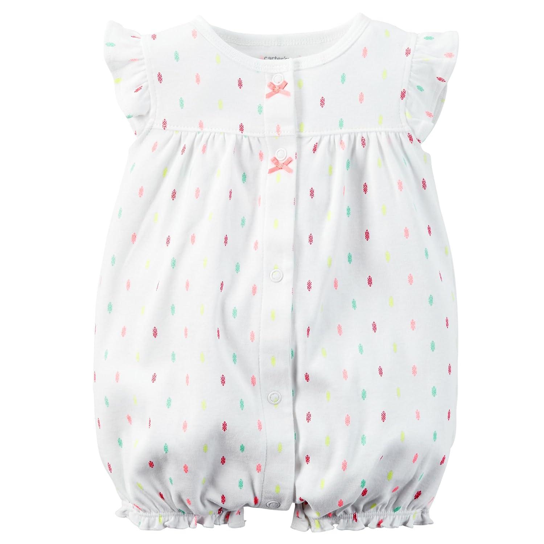 f205c4cdb4b Carter s Baby Girls  Cotton 1-piece Snap-Up Romper (12M