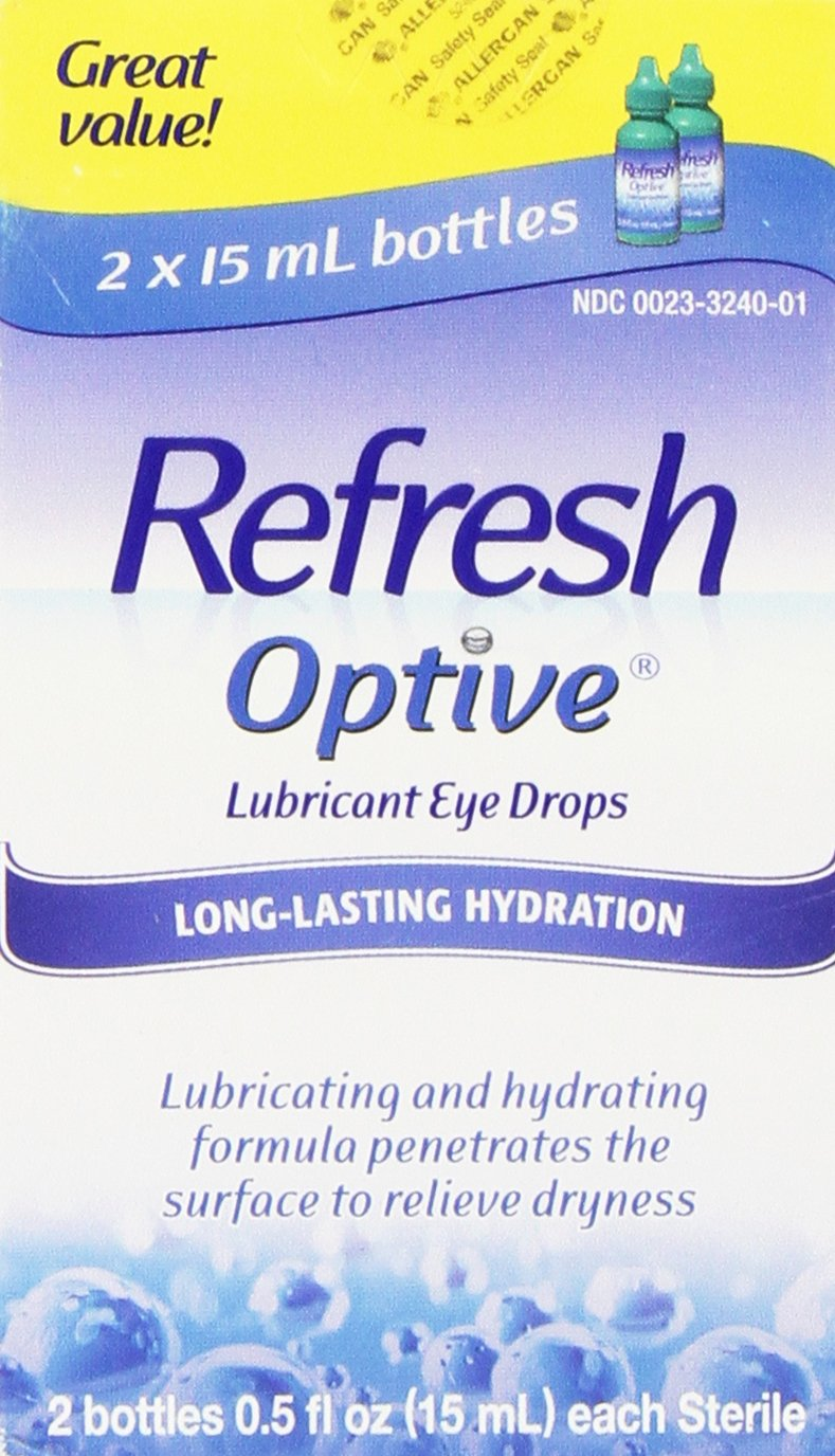 Refresh Optive Lubricant Eye Drops, Box of 2 x 15 ml bottles