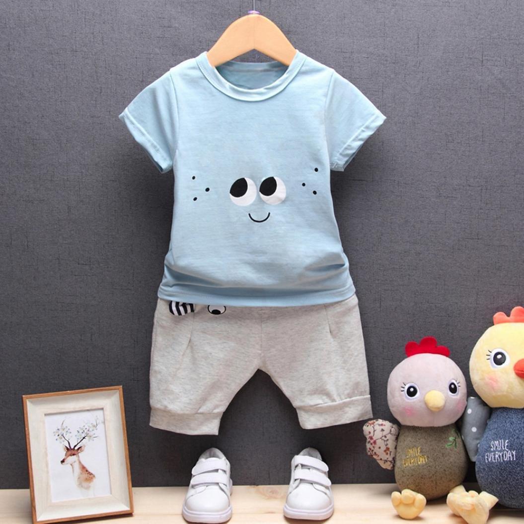 248e10b7e Amazon.com  Fineser Toddler Baby Boys Cartoon Eyes Short Sleeve T ...