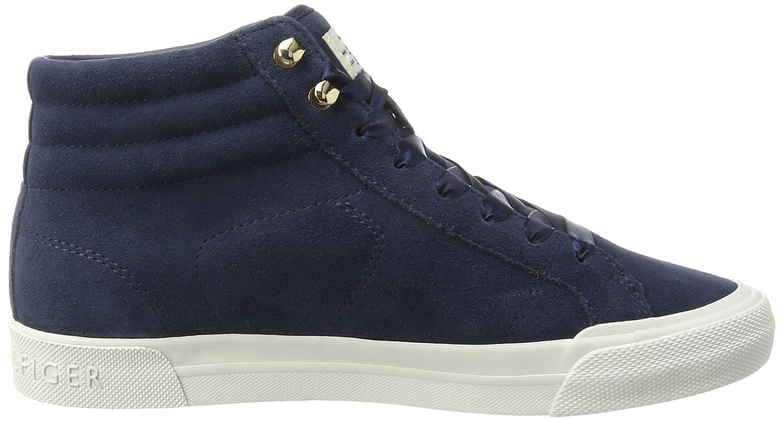 Womens Wmn Y1285armouth 3b High Neckline Sneaker, Navy Tommy Hilfiger