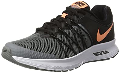 sale retailer 4a36a 2924c Image Unavailable. Image not available for. Colour  Nike Air Relentless 6  Black Sunset Glow Cool Grey White Women s Running Shoes