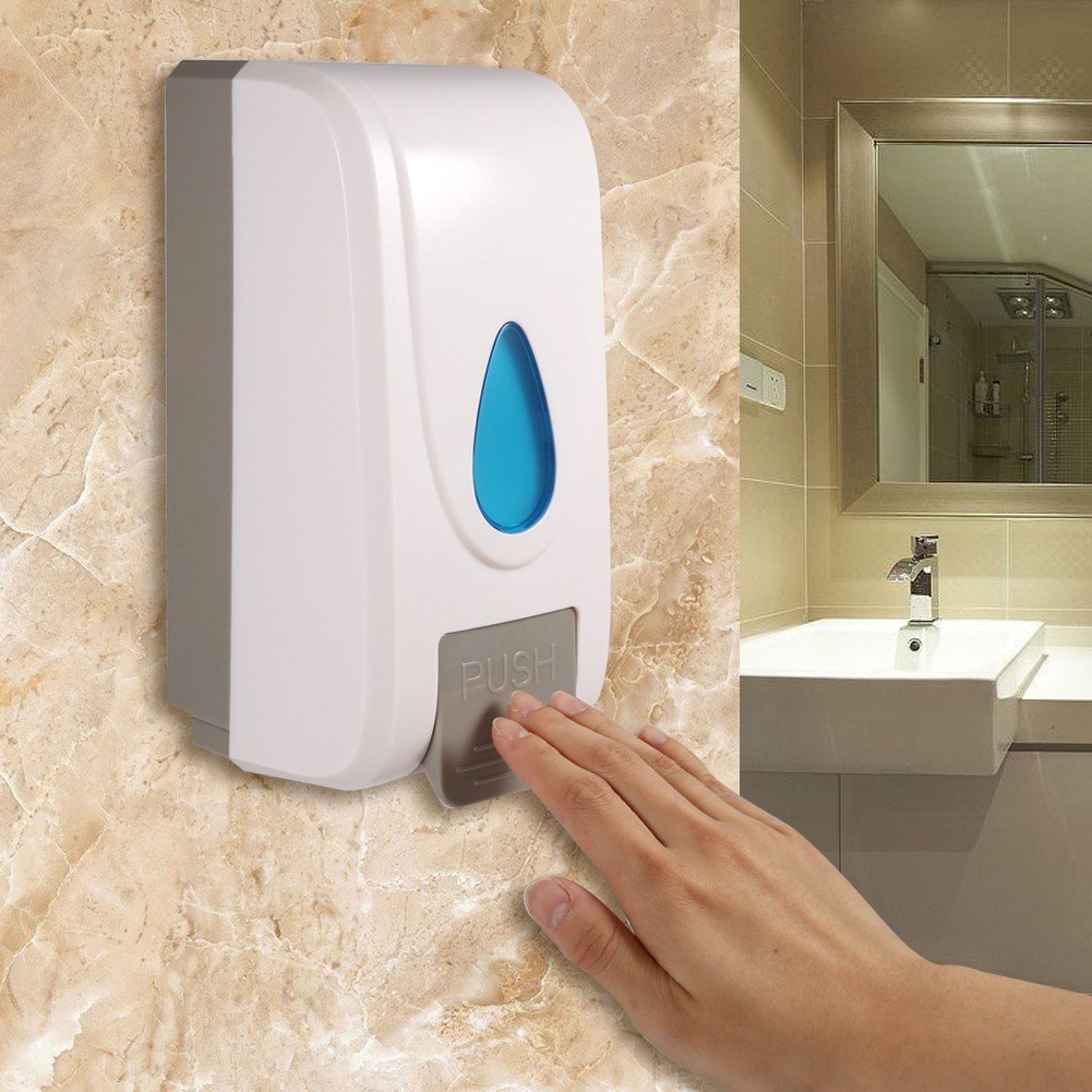 Soap and Shower Dispenser, 1000ML Large Capacity Bathroom Soap Dispenser Hand Shampoo Dispenser Wall Mounted for Kitchen, Bathroom and Shower Greensen