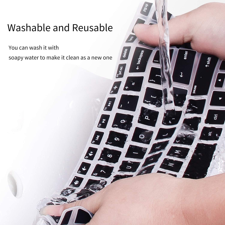 HP Envy 17 17t Keyboard Cover for HP Pavilion 17 17t 17.3 HP Laptop Keyboard Protective Skin HP Envy m7-n m7-u 17t-n 17-s HP OMEN 17 Black