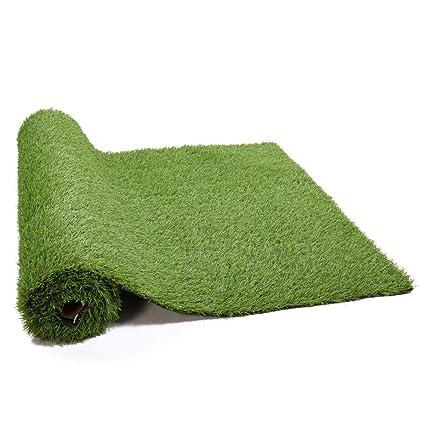 Amazoncom Tobbi 2 Pcs Garden Artificial Grass Rug Synthetic Grass