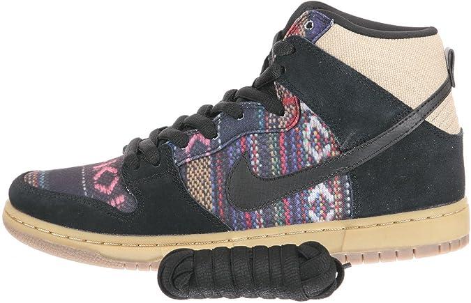 quality design 849f5 dcc7e Amazon.com   Nike Men s Dunk High Premium SB, MULTI-COLOR BLACK GYM LIGHT  BROWN, 9 M US   Shoes