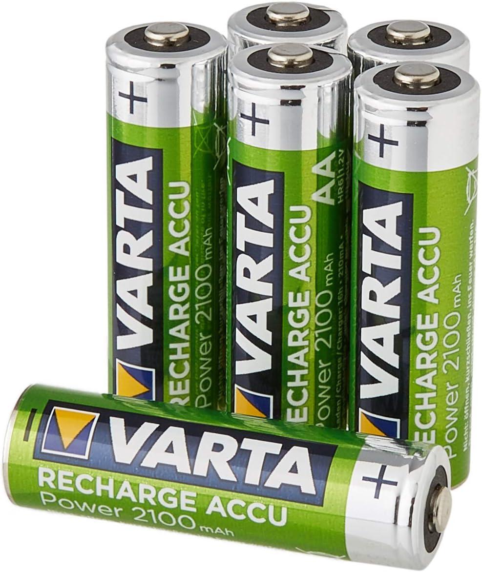 Varta - Baterías recargables, AA 2.100 mAh, pack de 6